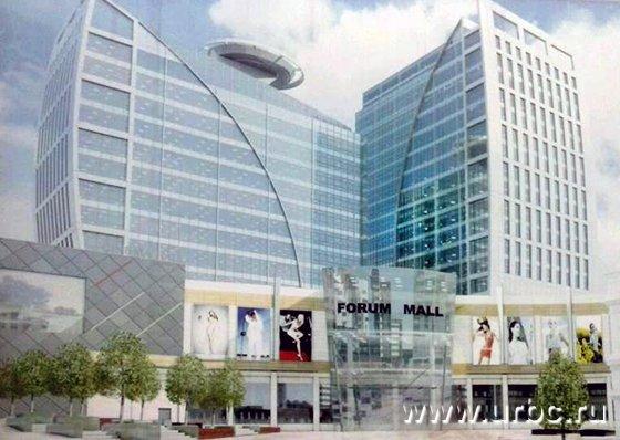 Проект предусматривает строительство двух высоток и трехэтажного ТЦ